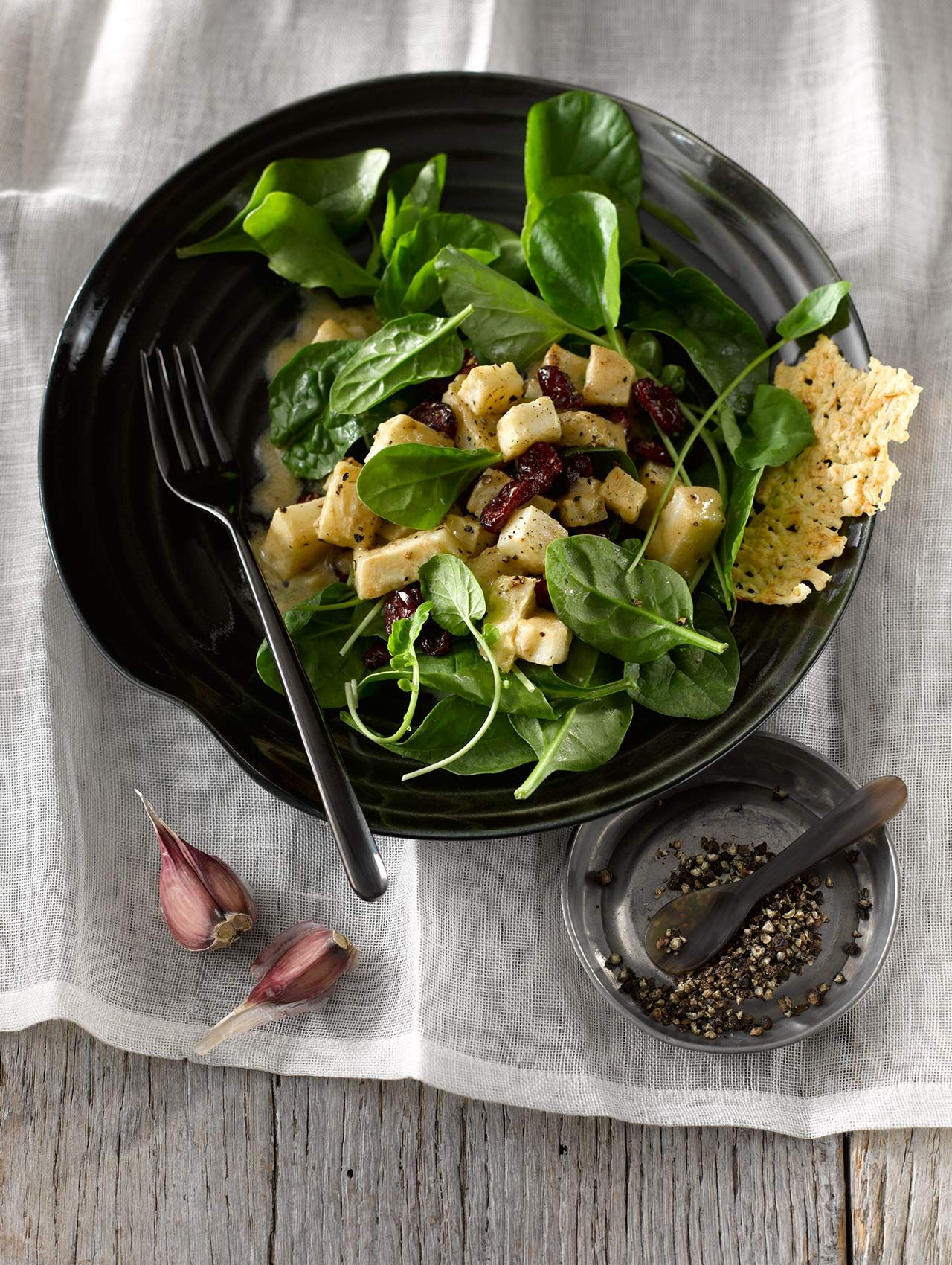 Cress Spinach Salad