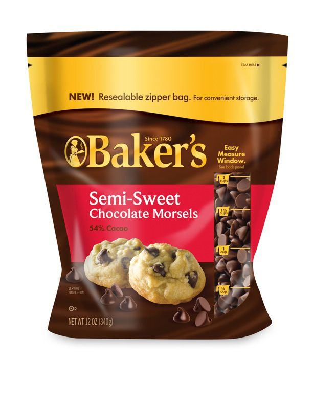 Baker's Chocolate Morsels Packaging