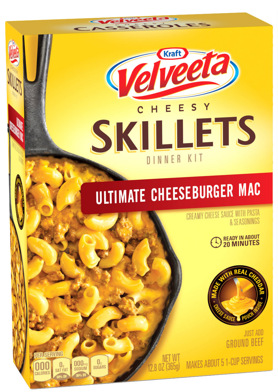 Velveeta Cheesy Skillets Dinner Packaging