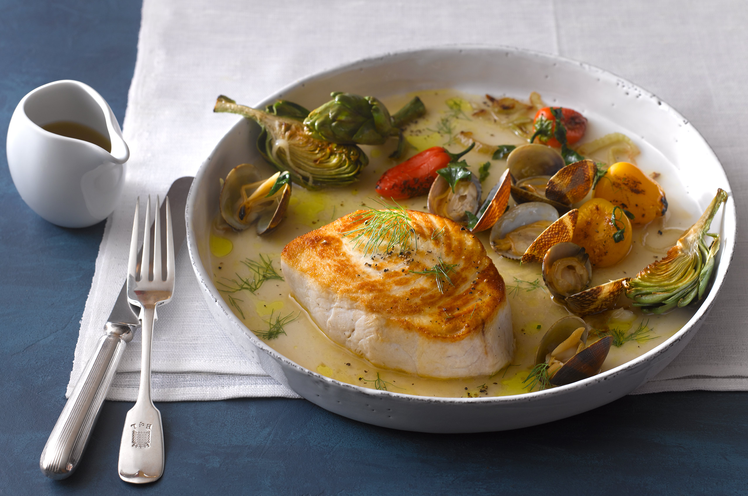 Swordfish Steak Baby Clams