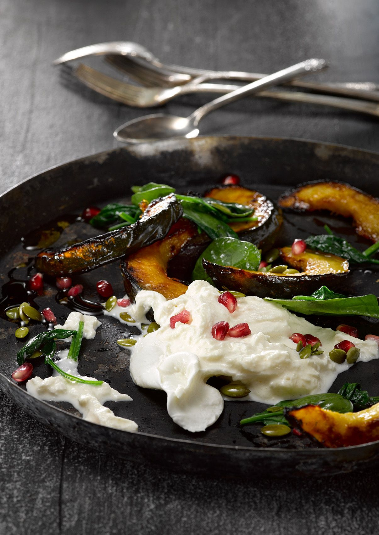 Roasted Squash and Burrata Salad