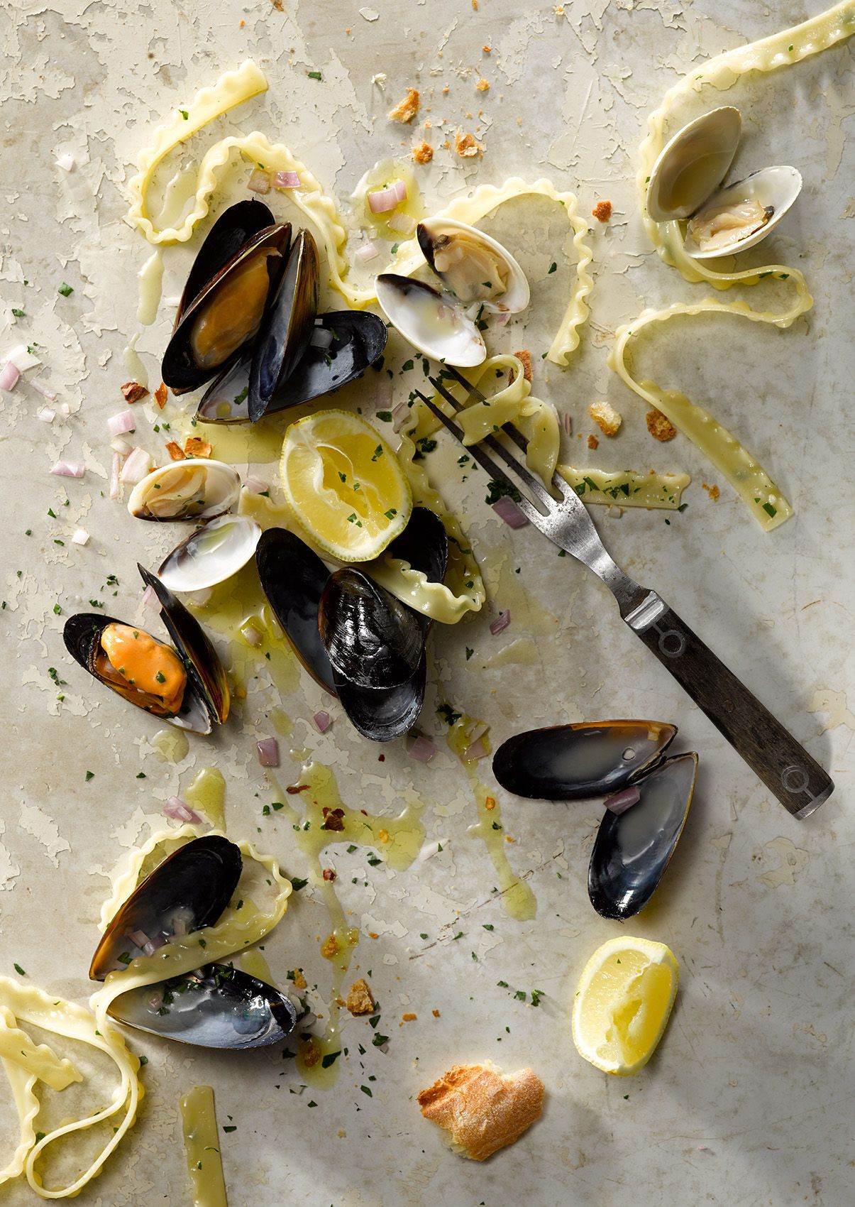 Pasta with Clams and Mussels