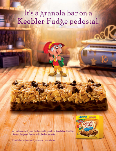Keebler Granola Fudge Bar Ad