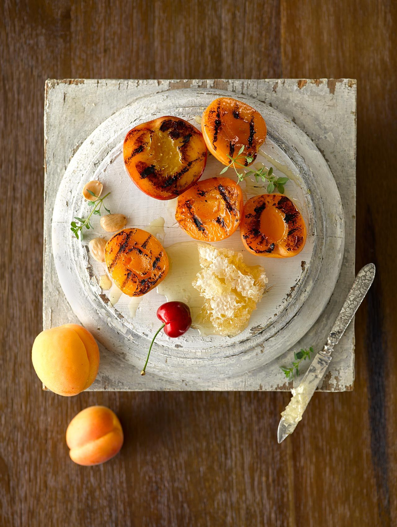 Peach Apricot Honeycomb Plate