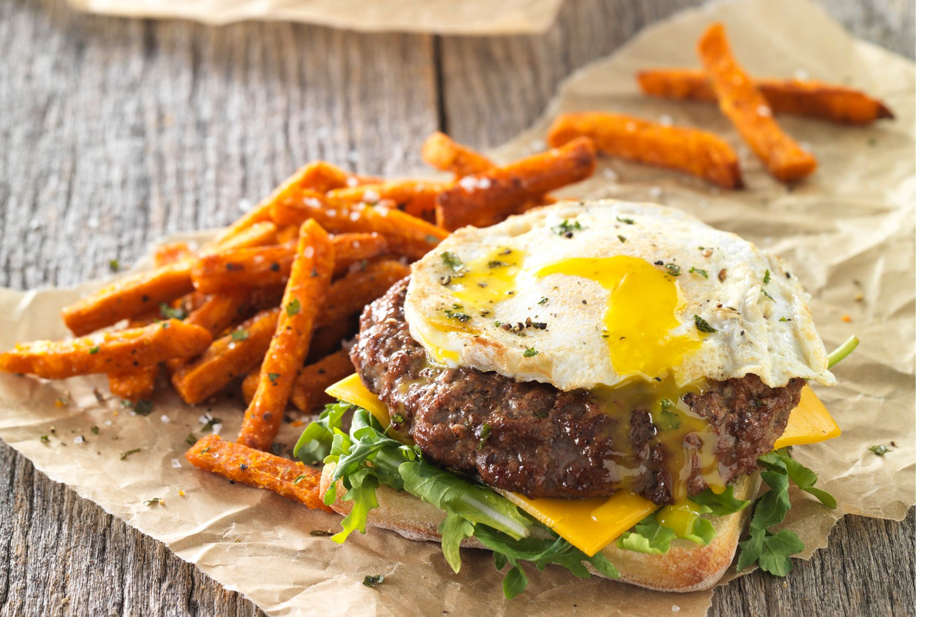 cracked egg burger
