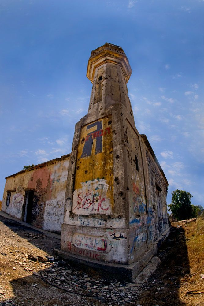 Mosque from the Golland Mountains - Graffiti Natural