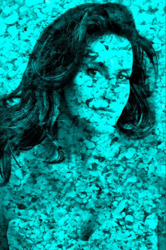 """Jenner in Shells in Turquoise 60"""" x 40"""""""