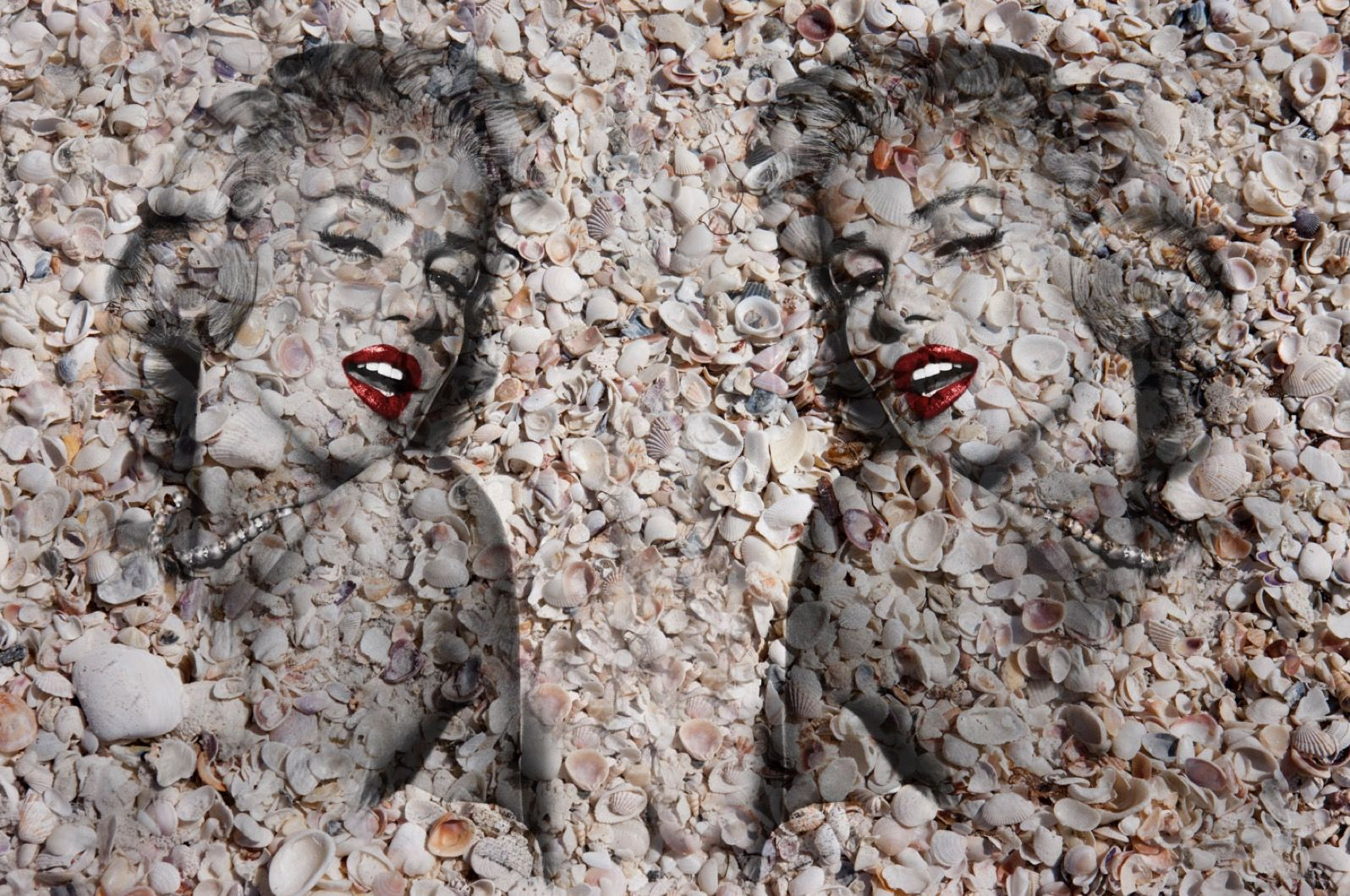 Double Marilyn Portrait of Shells