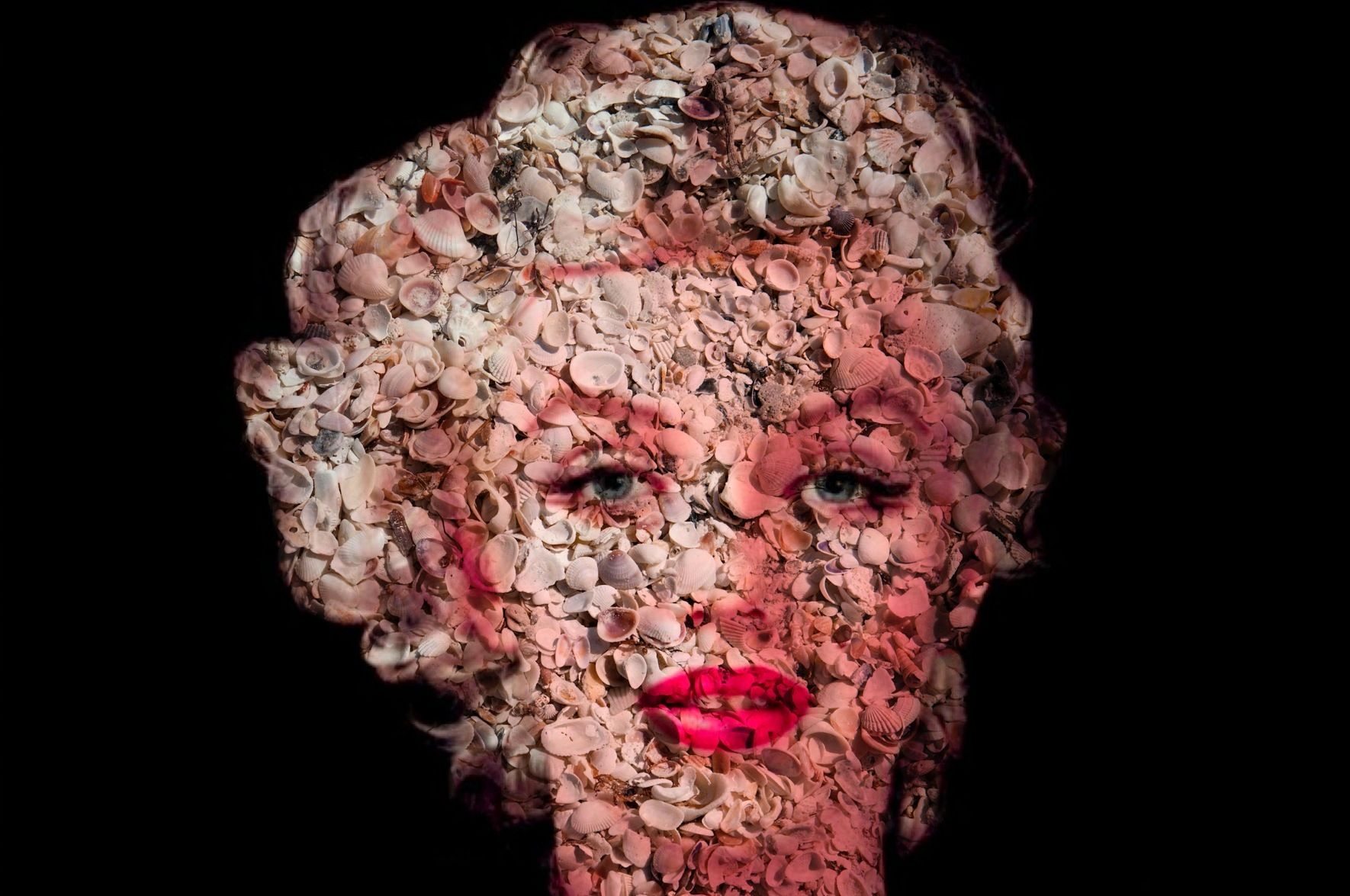 "Marilyn in Seashells  Natural # 2  40"" x 60"""