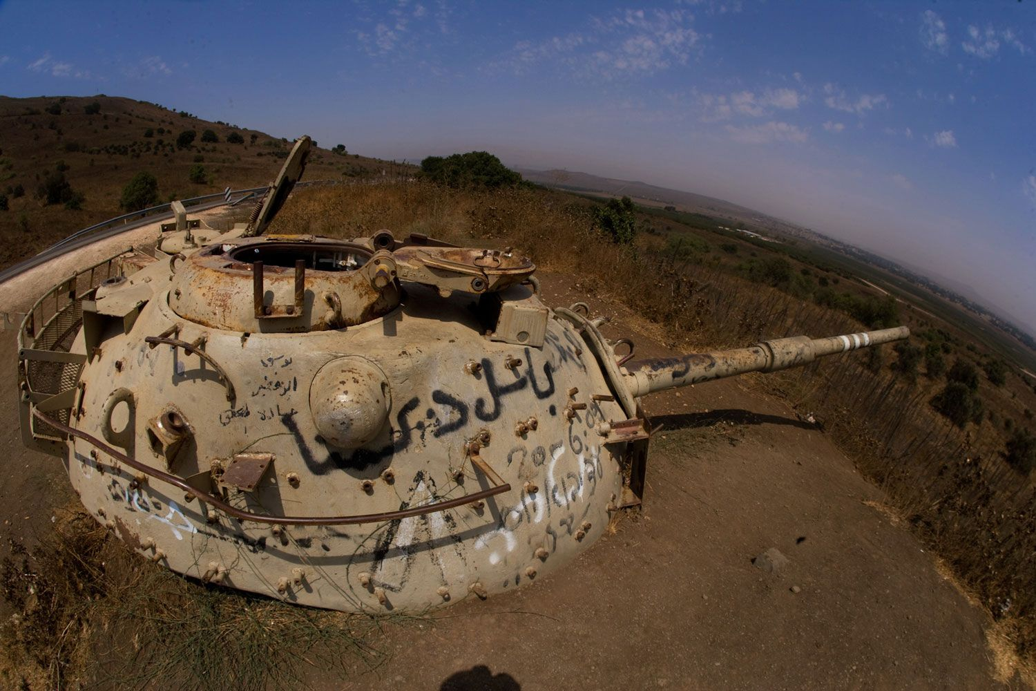 The Hill of Voice - Memorial From Six Day War - Leftover Tank w/ Graffiti