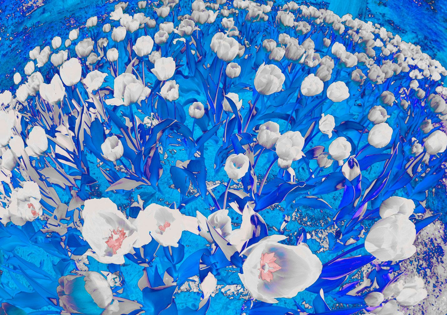 Abstract Azure Tulips