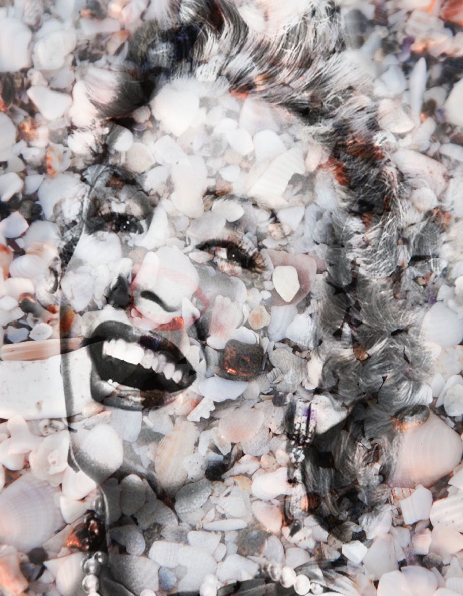 """Marilyn in Sea Shells  in Natural #3  60"""" x 40"""""""