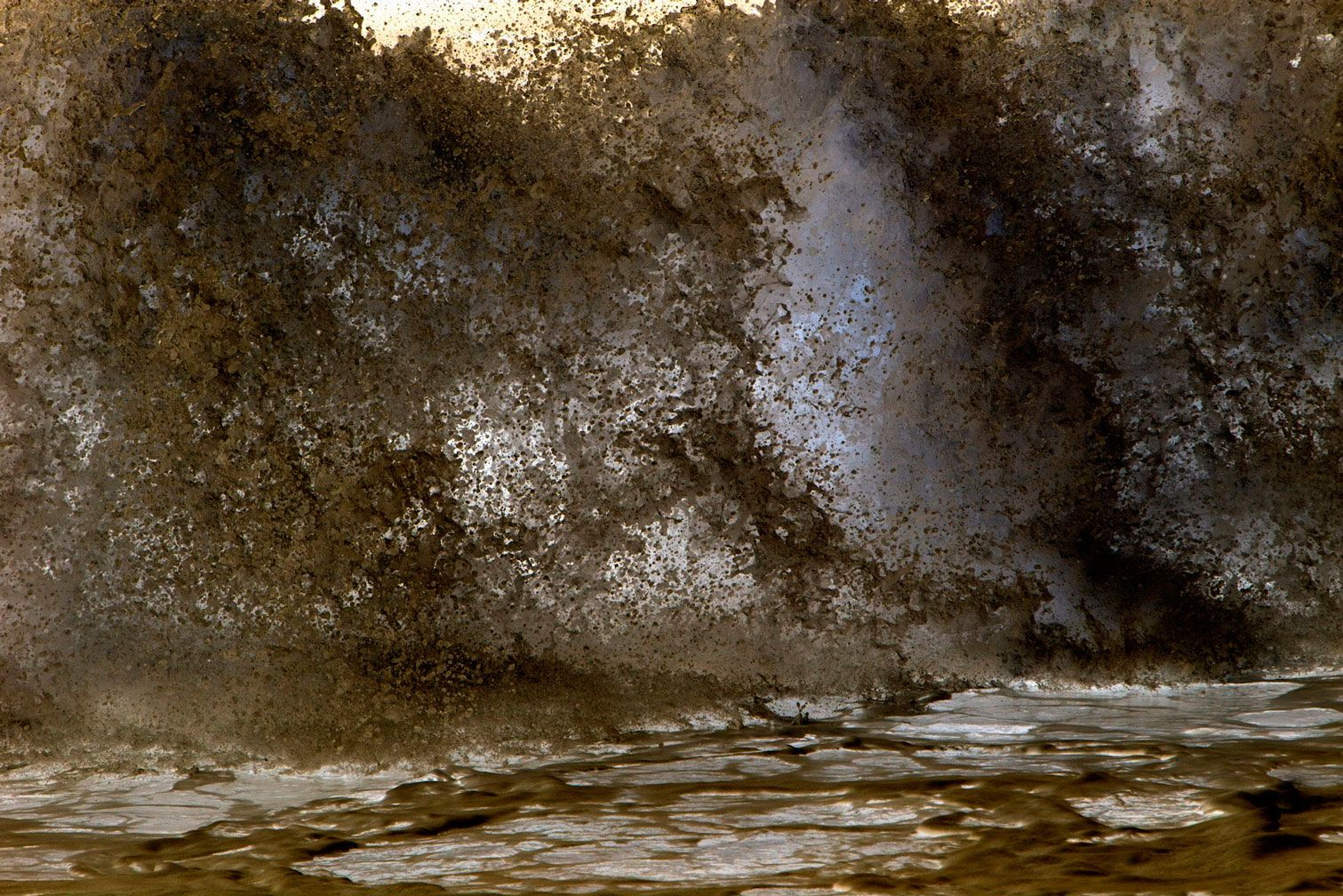 Astract Sepia Crashing Wave
