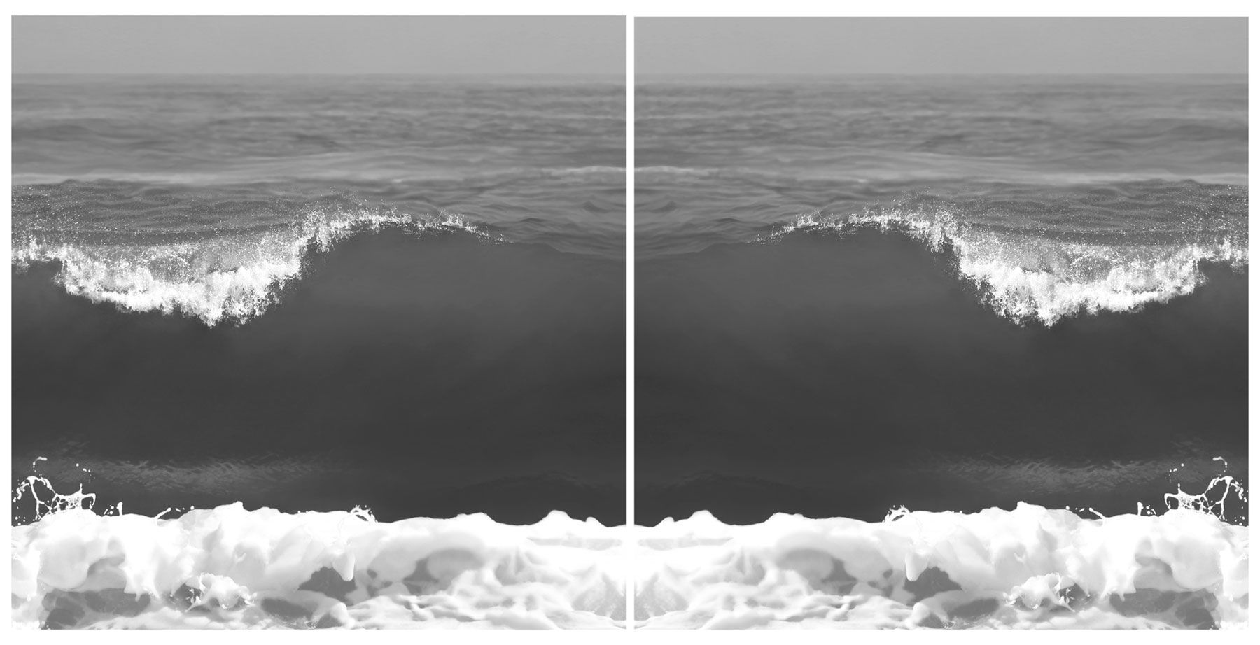 BW Crashing Waves 9781 (diptych)