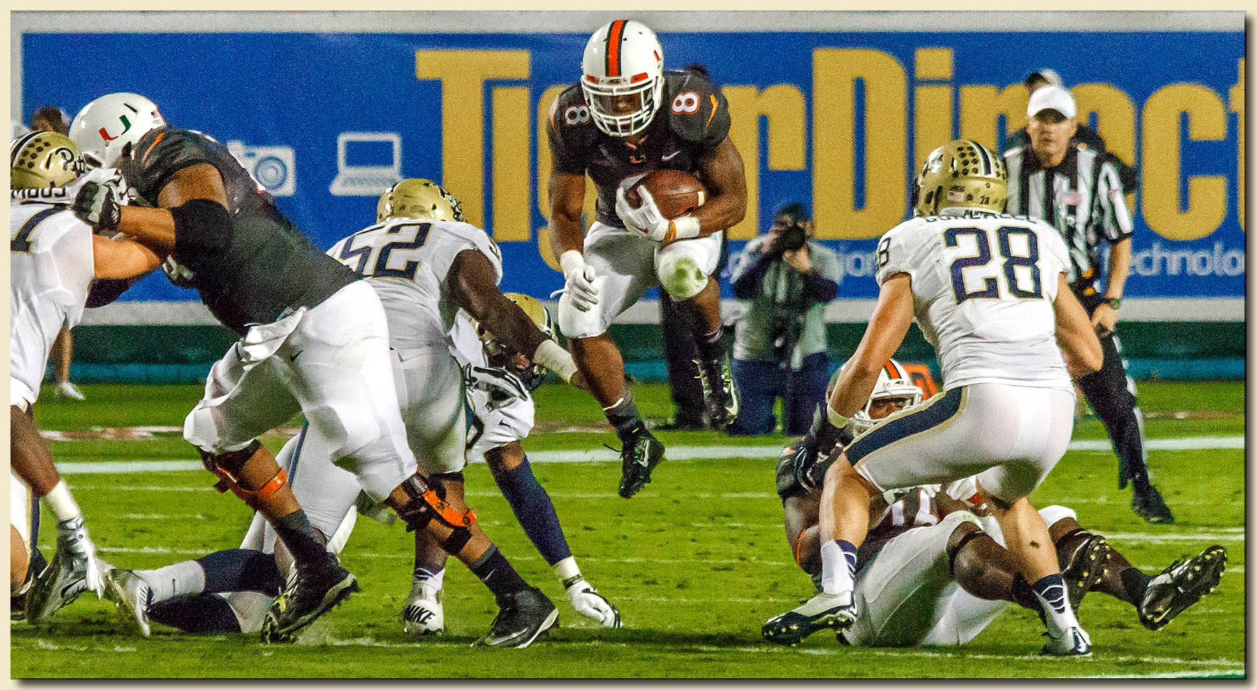 Duke Johnson (8) Ball Carrier Airborne