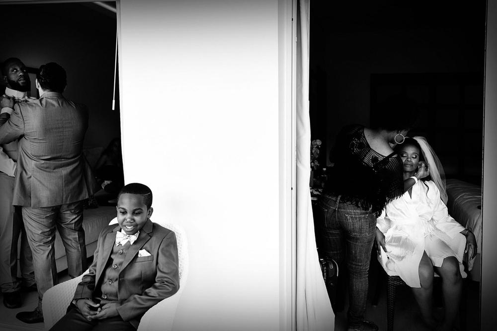 Getting ready, destination wedding in Jamaica