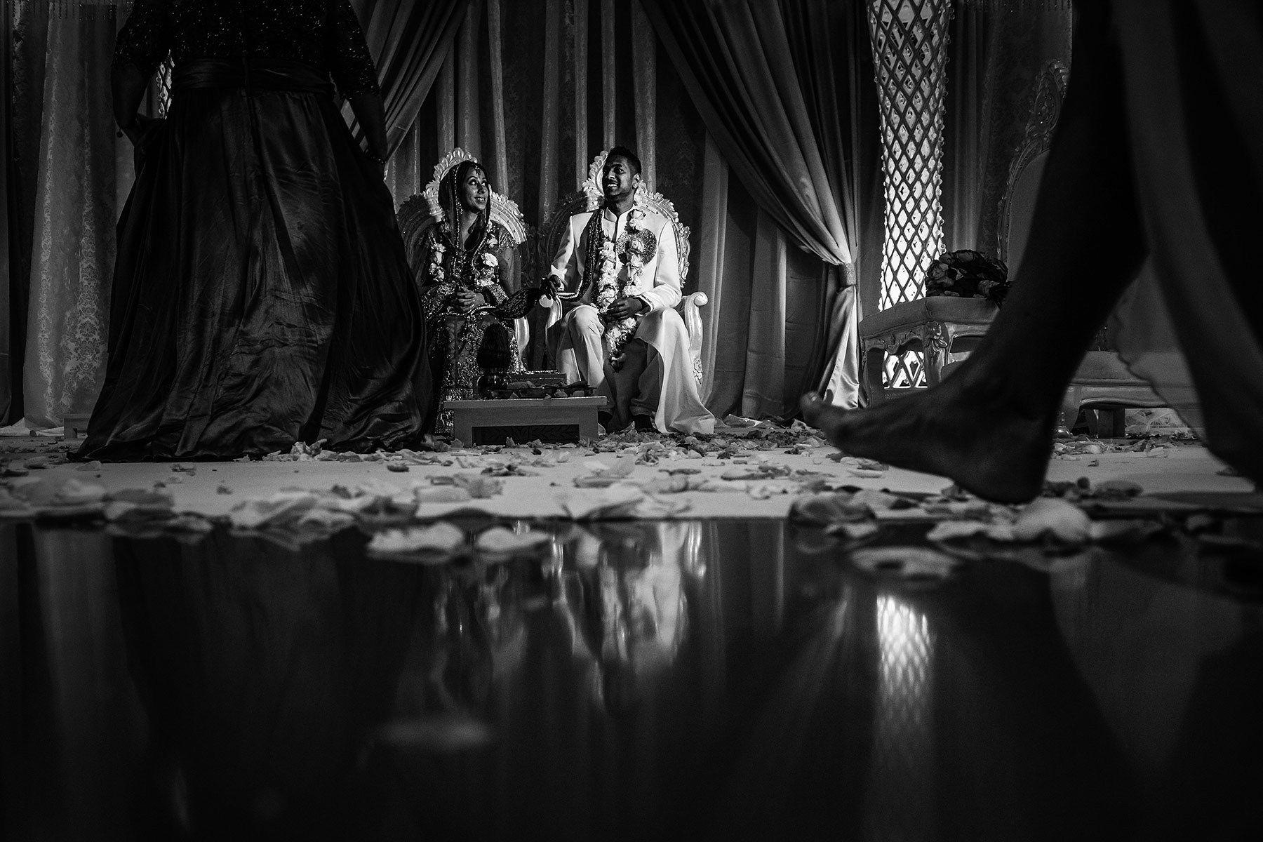 Montreal hindu wedding ceremony, bride and groom together