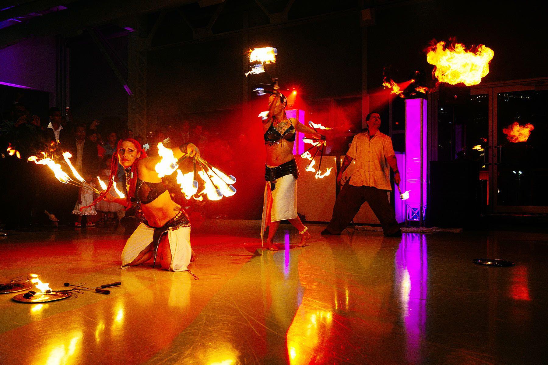 Fire show at Montreal hindu wedding