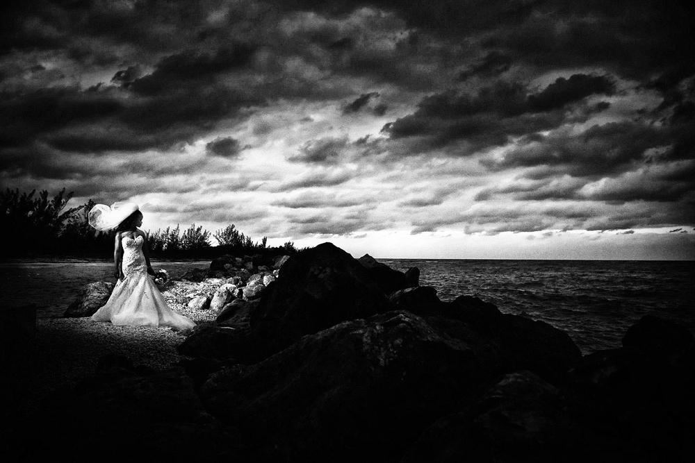 Bridal portrait, destination wedding in Jamaica