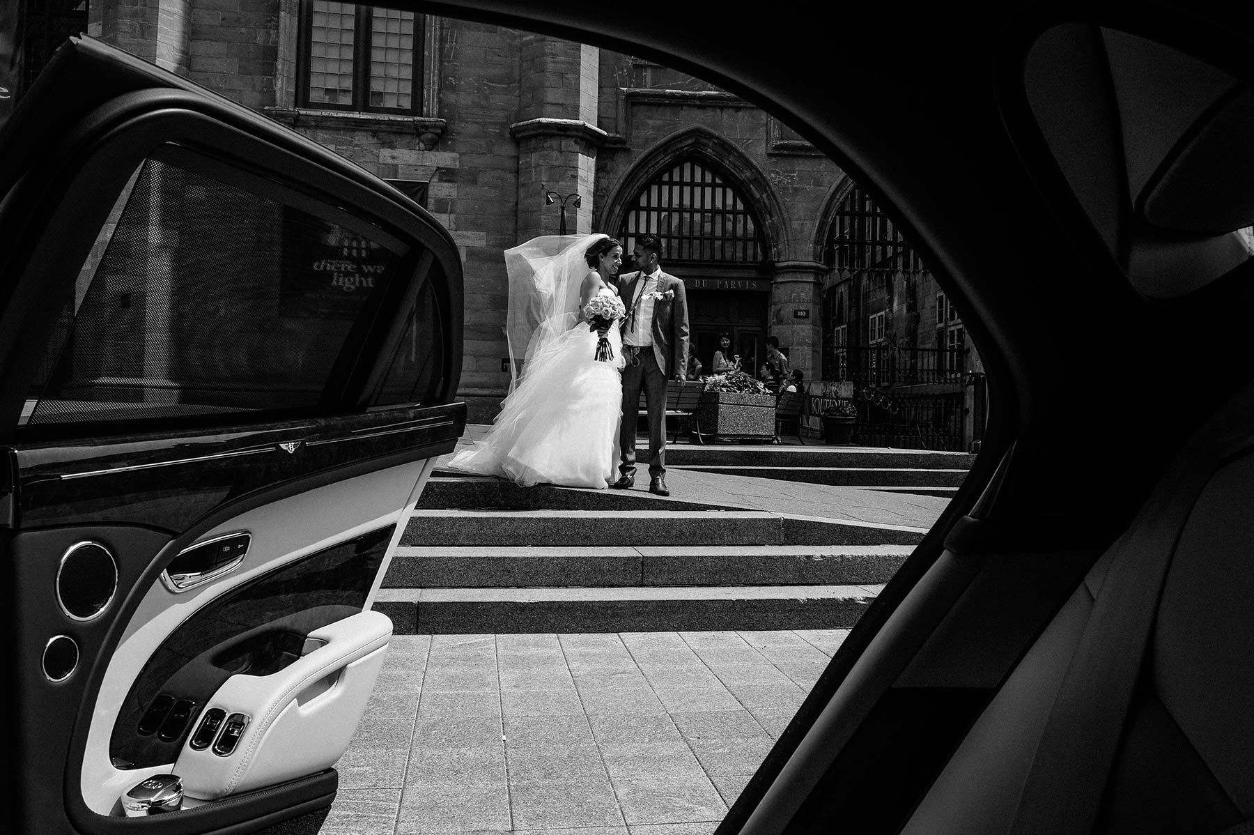 Montreal wedding photographer, bride and groom