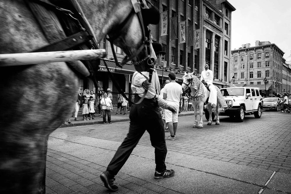 Montreal wedding photographer, barat procession