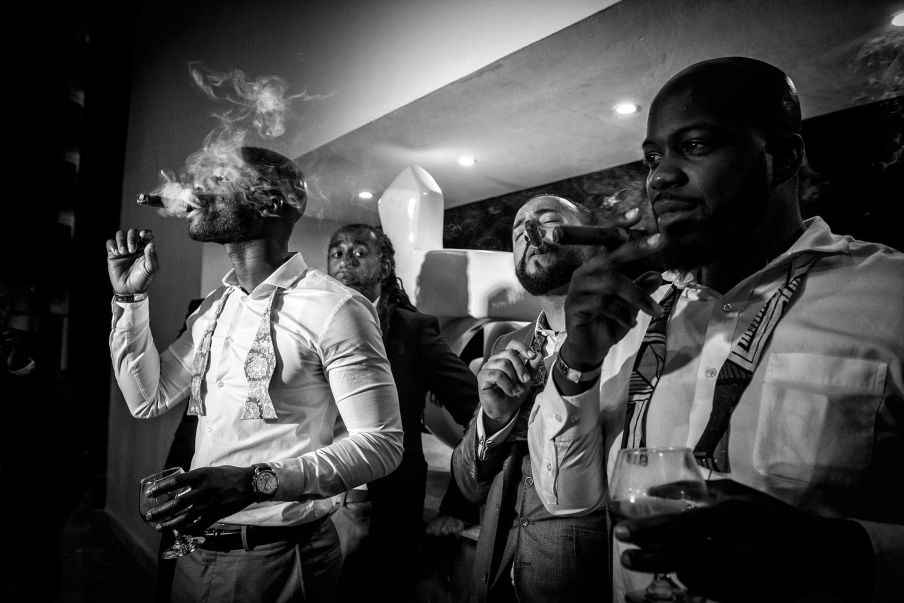 Montreal wedding photographer, bridal party portrait