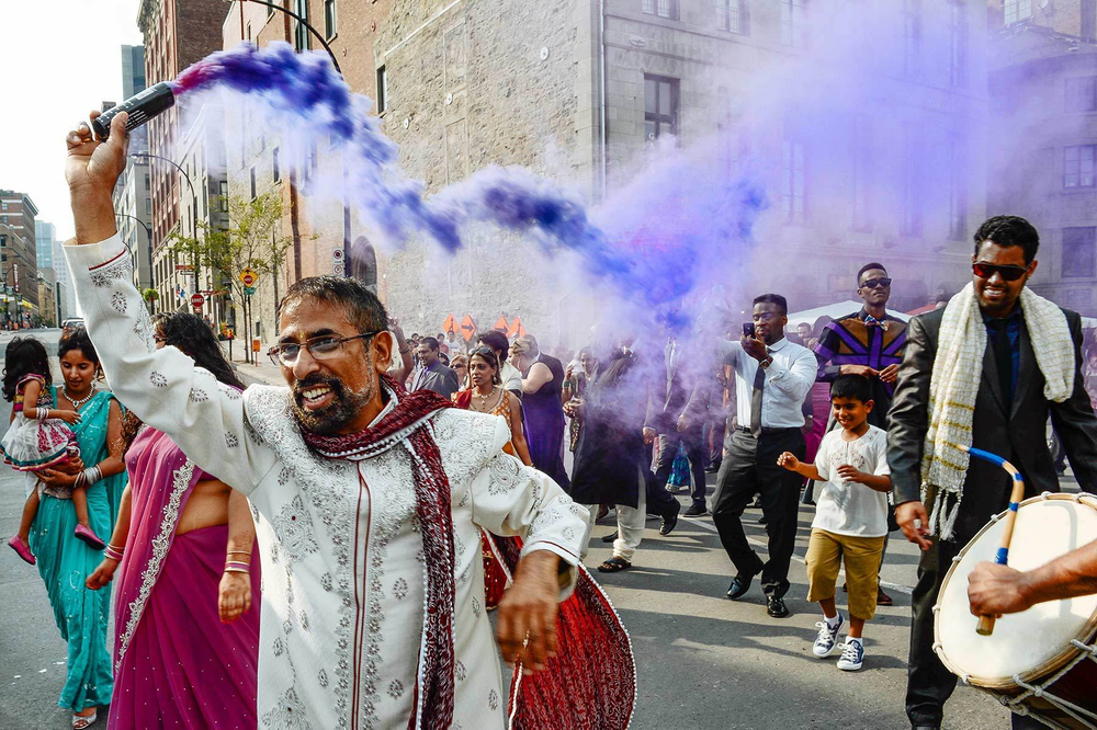 Montreal indian wedding, baraat procession