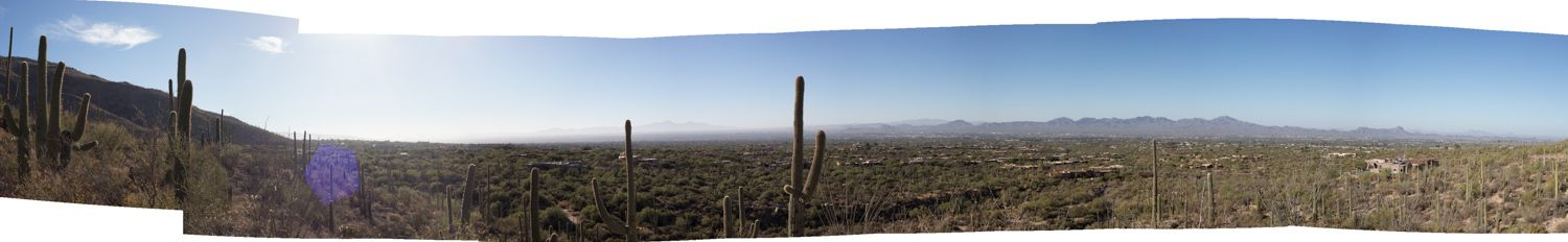 Saguaro National Park tuscan arizona panoramic desert