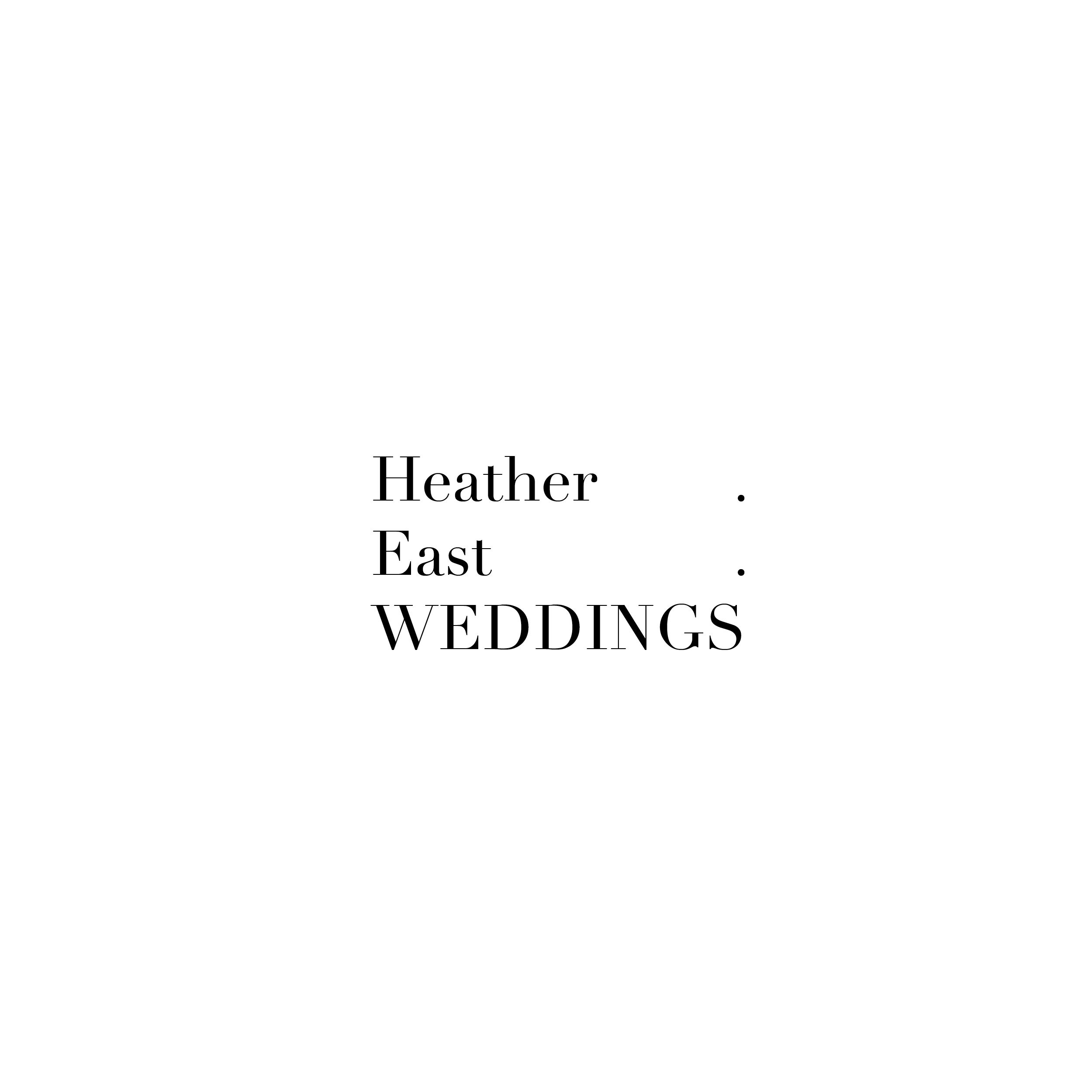 Heather East Weddings