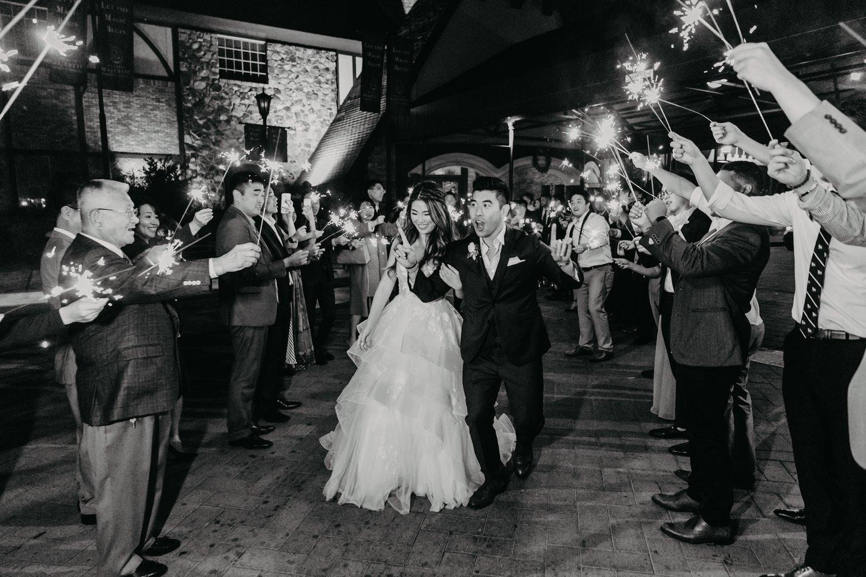 wedding photographer Anaheim, Orange County, la, oc, wedding, photographer, photo, sparkler exit, happy, whoo