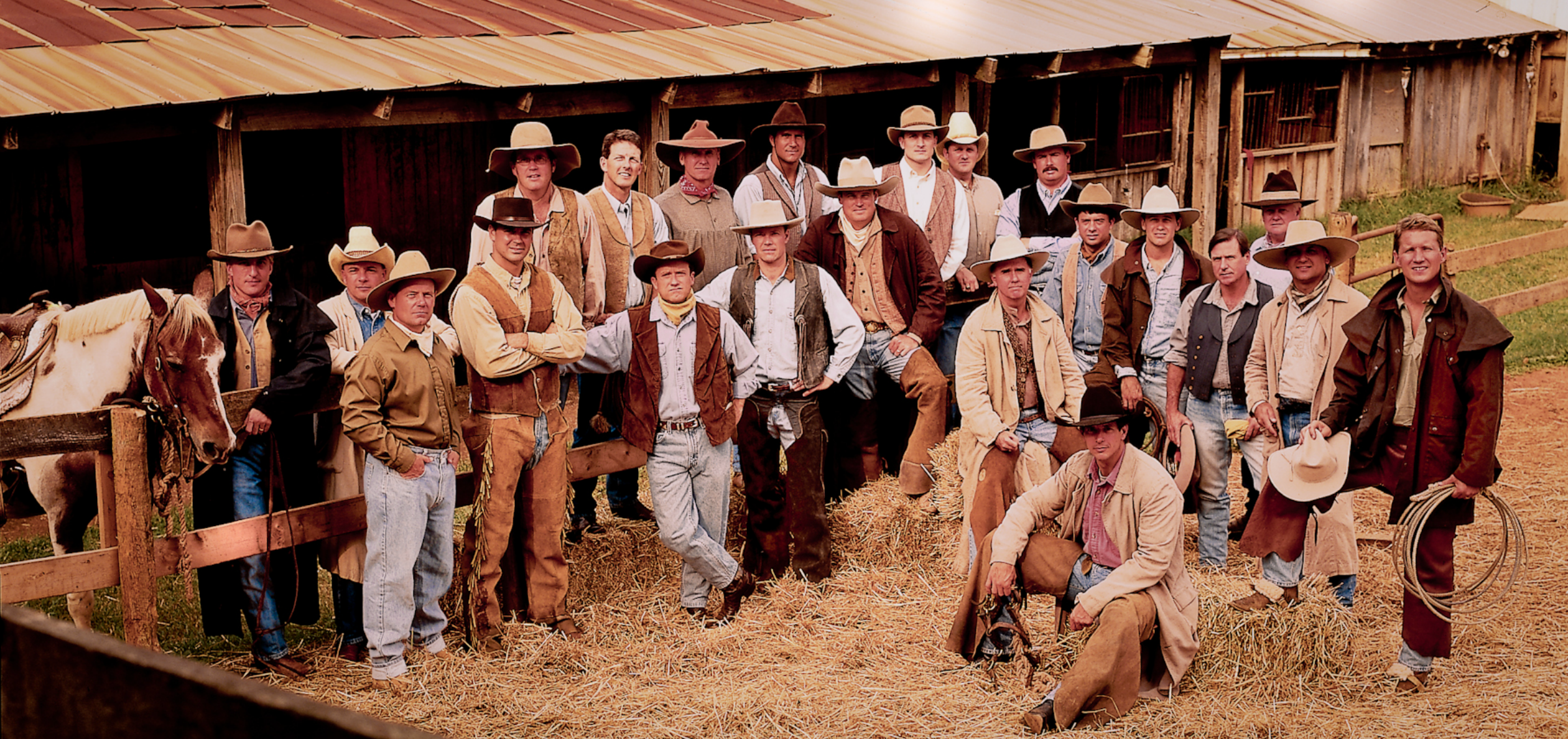 Group of cowboys. Color photograph by Donald Chambers