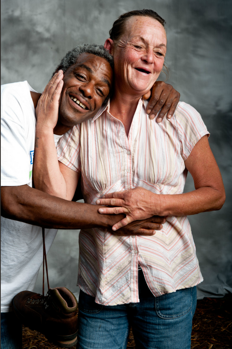 Color portrait of man and woman from Atlanta, Georgia.  Photograph by Donald Chambers.
