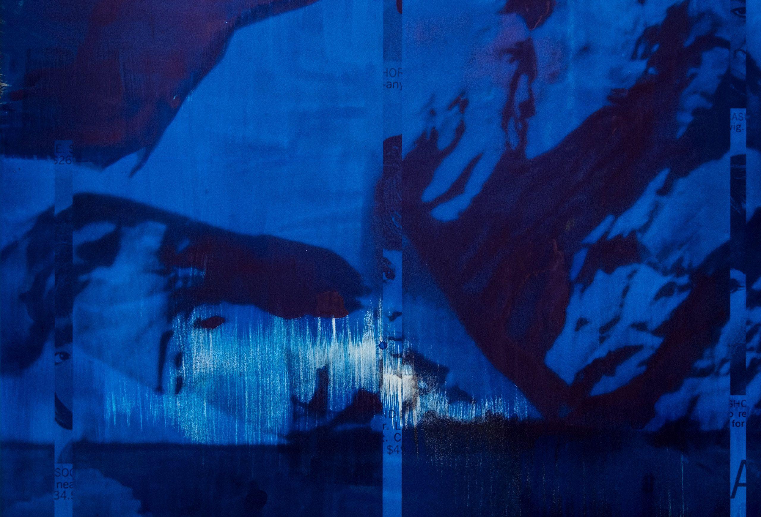 Blue Turned Temporal, 2019 (detail)