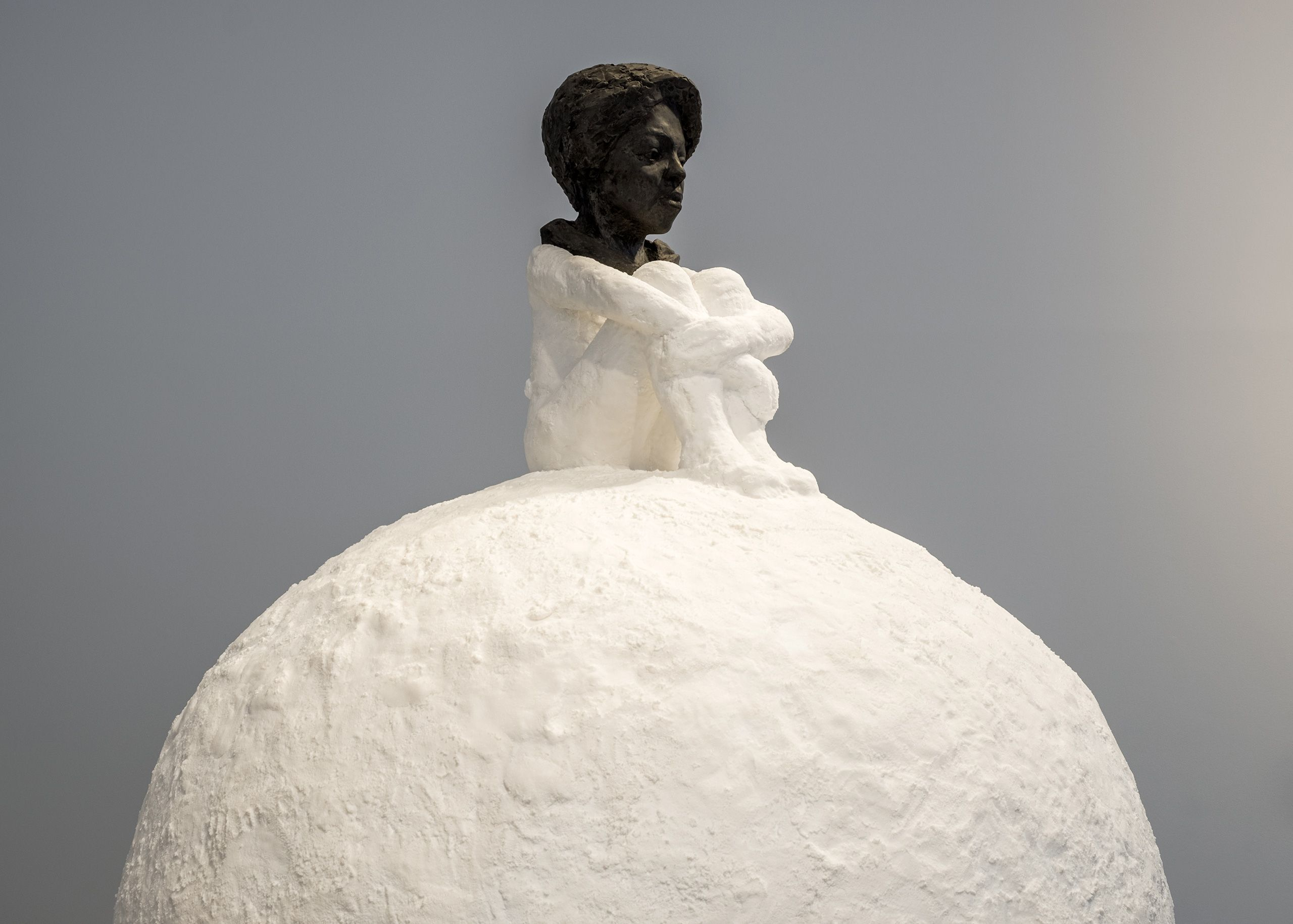 Woman On Snowball, 2018 (detail)