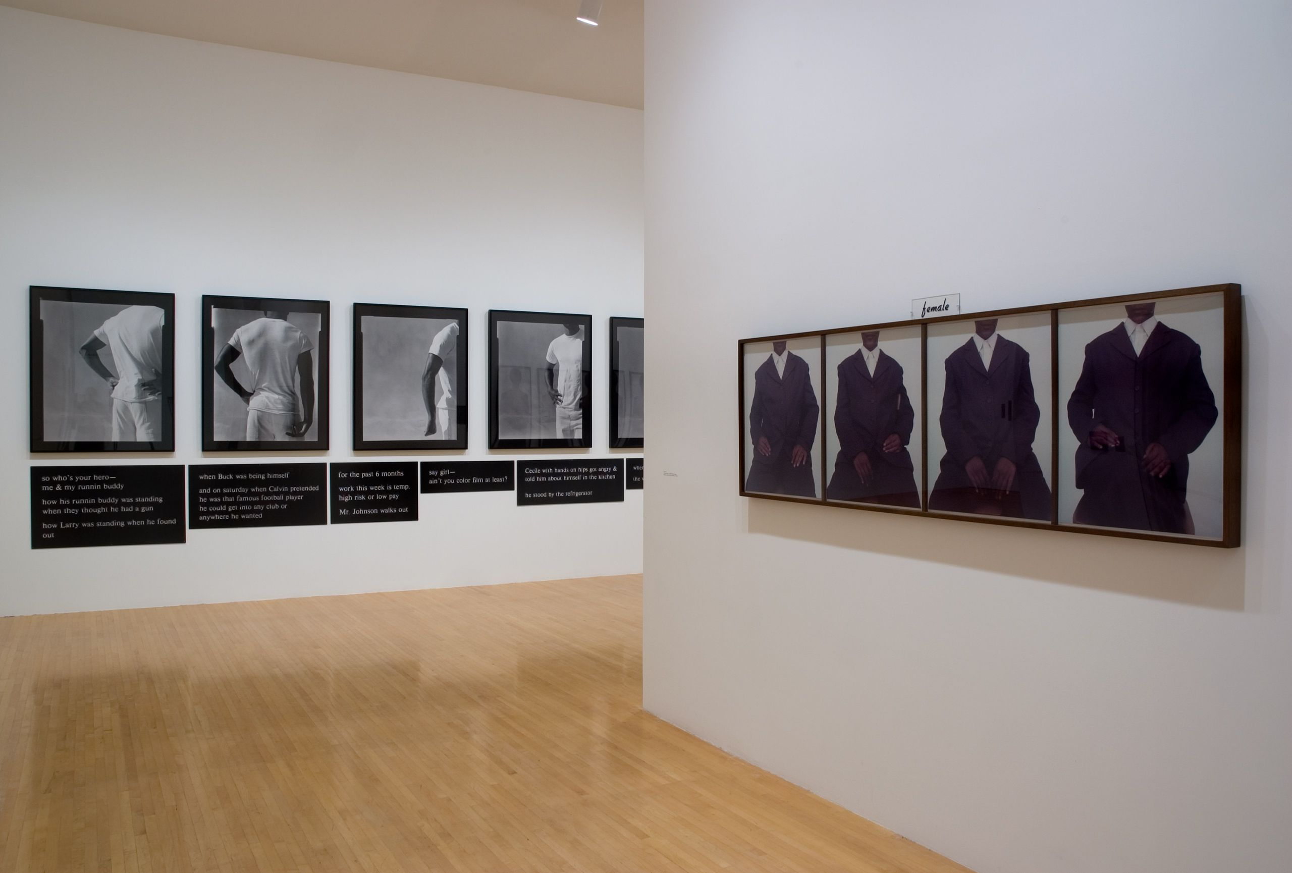"""Lorna Simpson"", Museum of Contemporary Art Los Angeles, CA 2006"