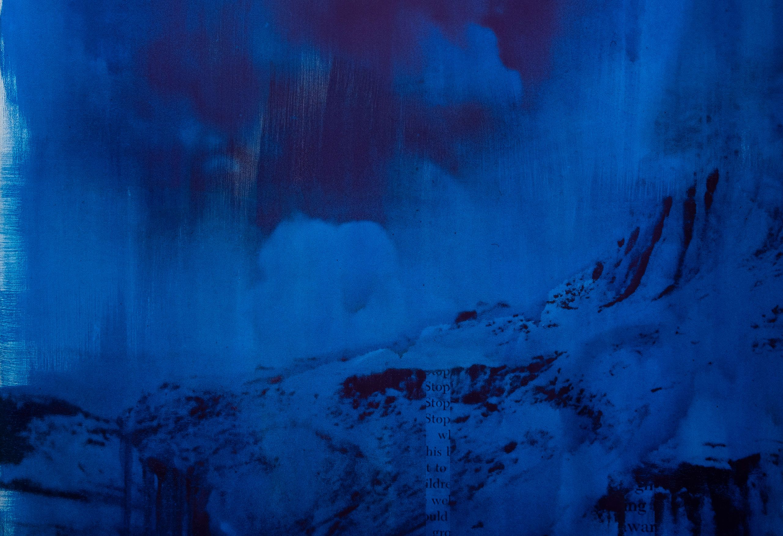 Blue Dark, 2018 (detail)