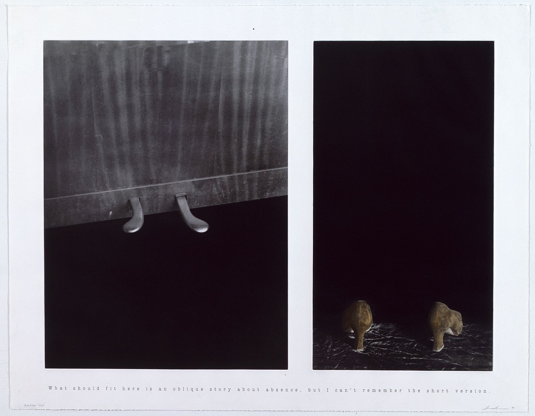 Untitled (What Should Fit Here Is an Oblique Story About Absence), 1993