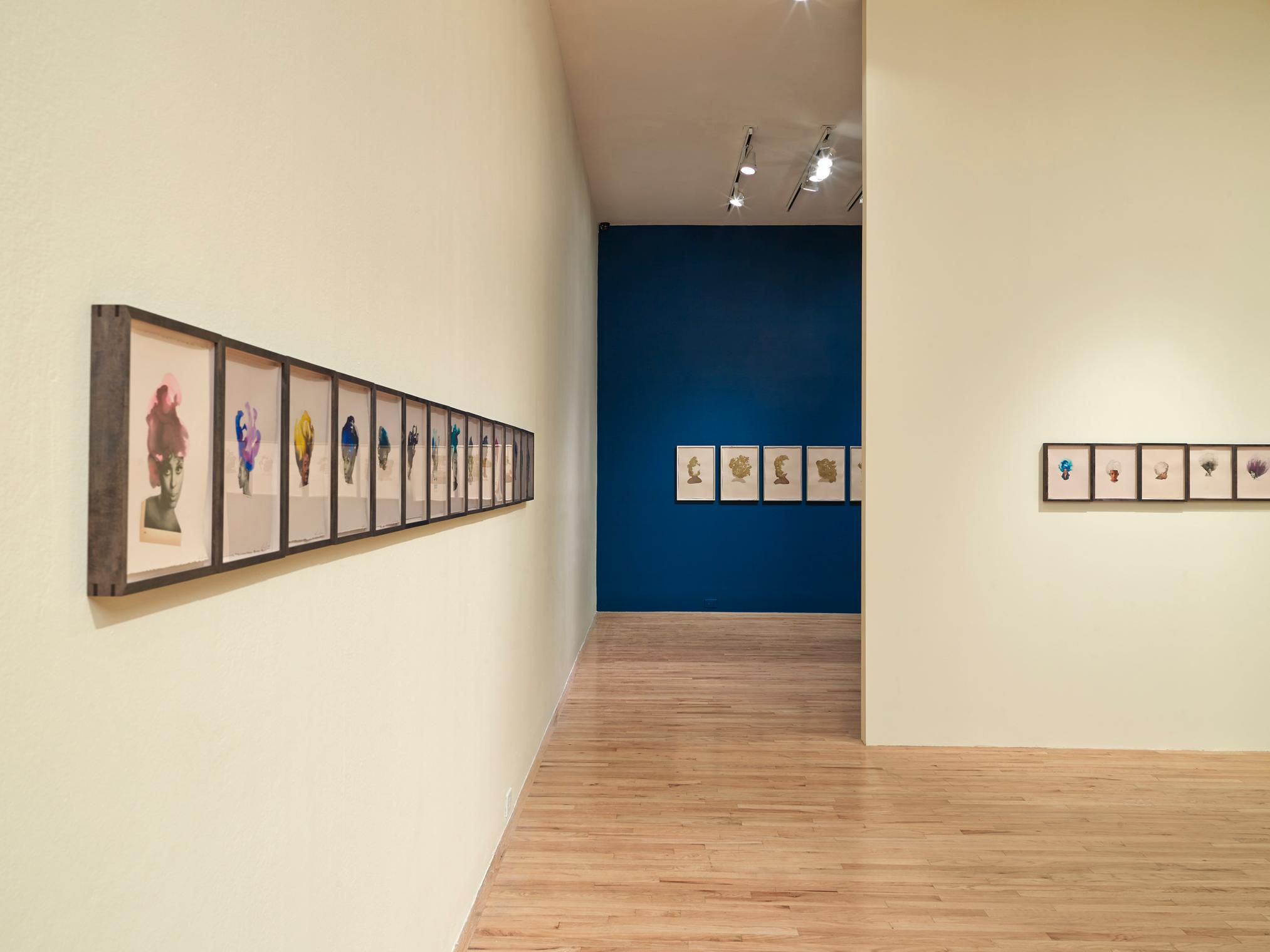 """Lorna Simpson: Works on Paper"", Aspen Art Museum, 2013 (installation view)"