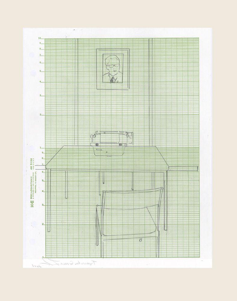 Bed Green, 2008Typewriter Green, 2008