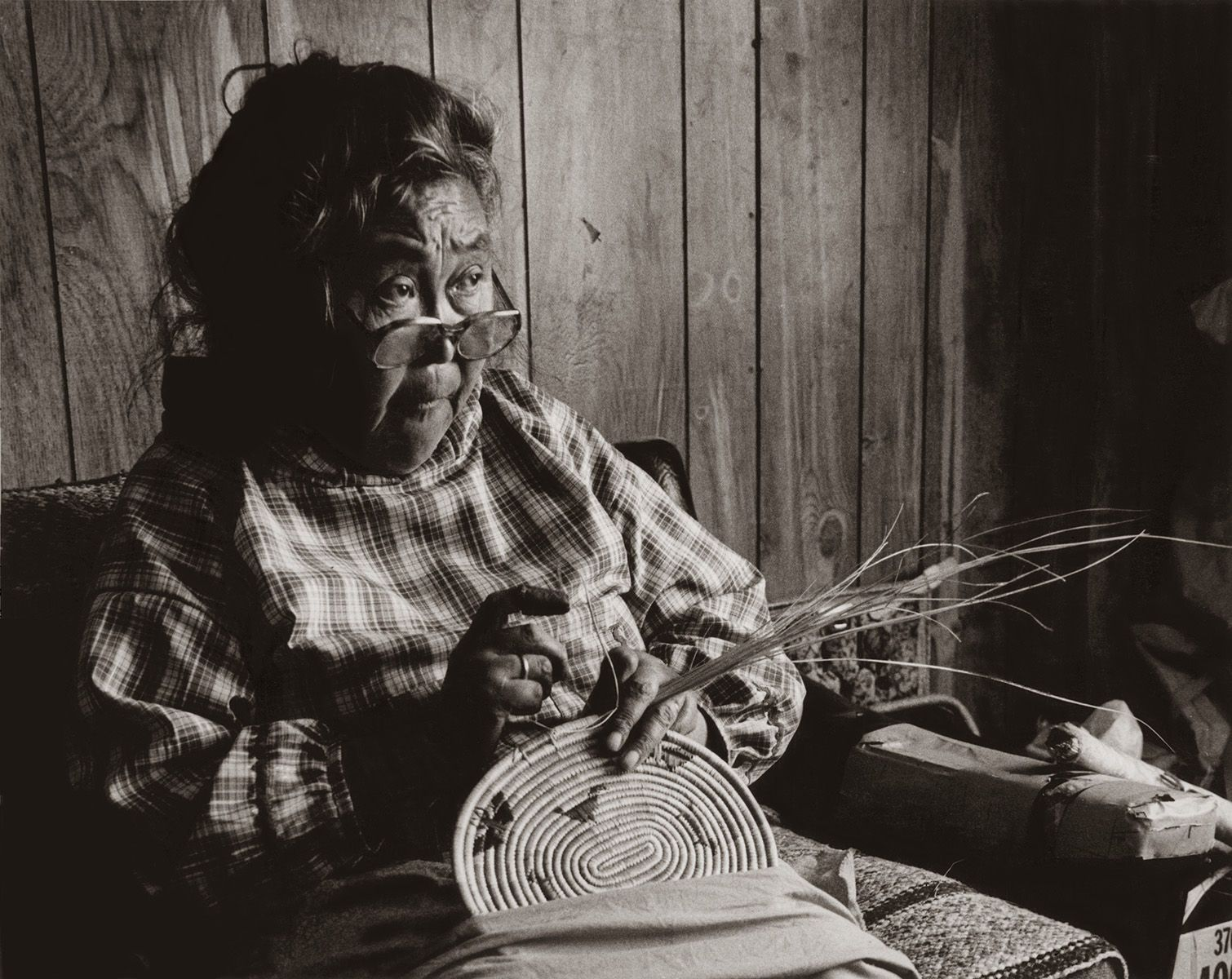 "MRS. THERCHICK, FROM THE ""YUPIK LADIES BASKET SERIES,"" photograph 1981"