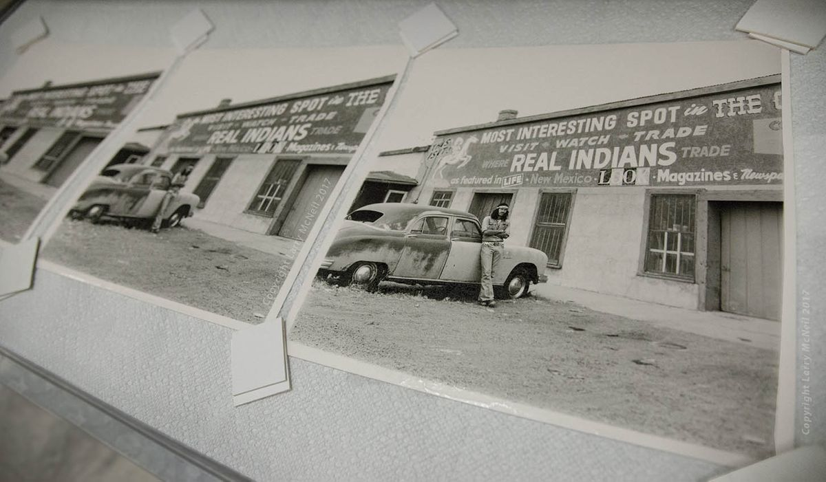"Larry McNeil ""Real Indians"" photographs in darkroom"