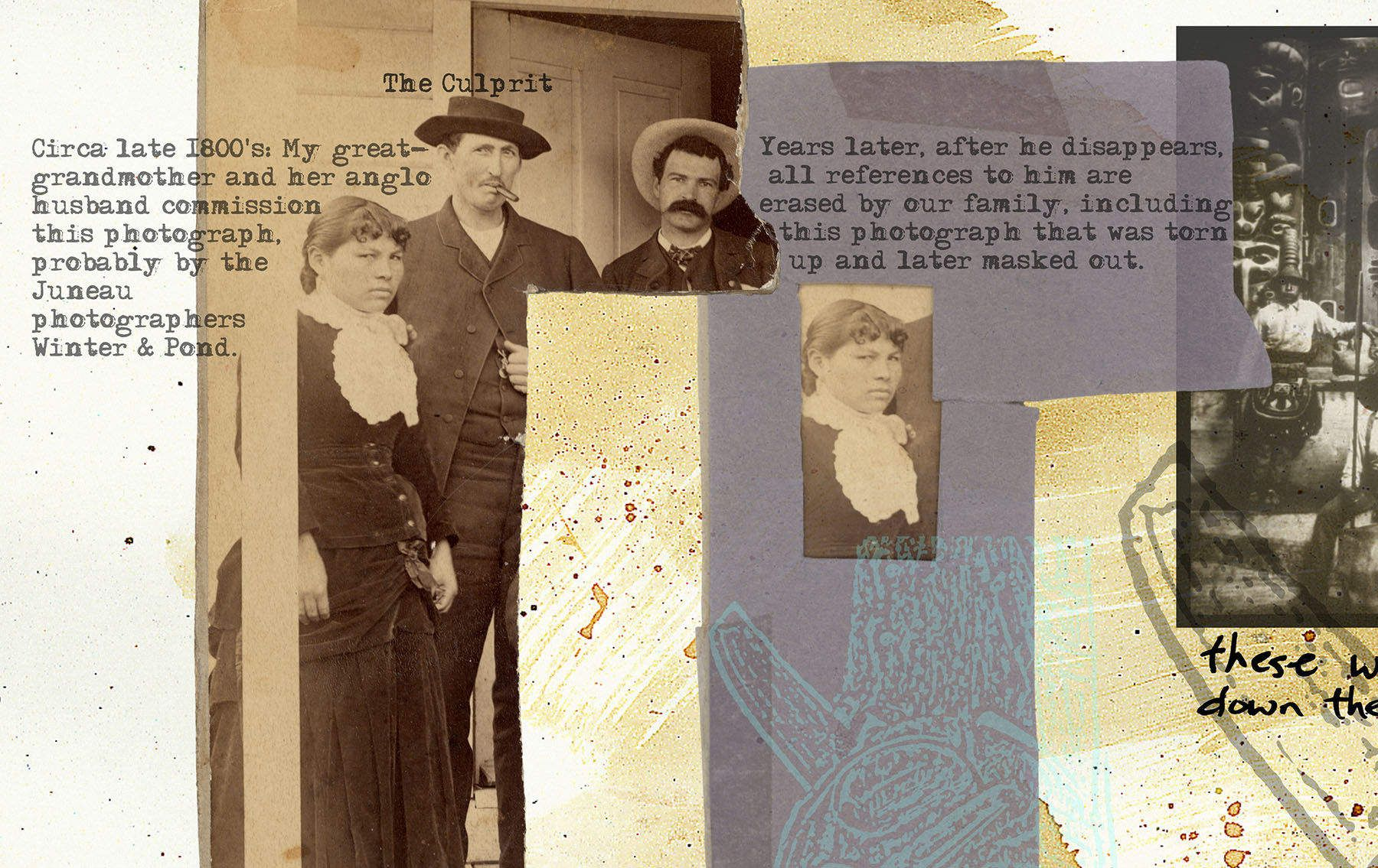 GREAT GRANDPARENTS, digital print detail