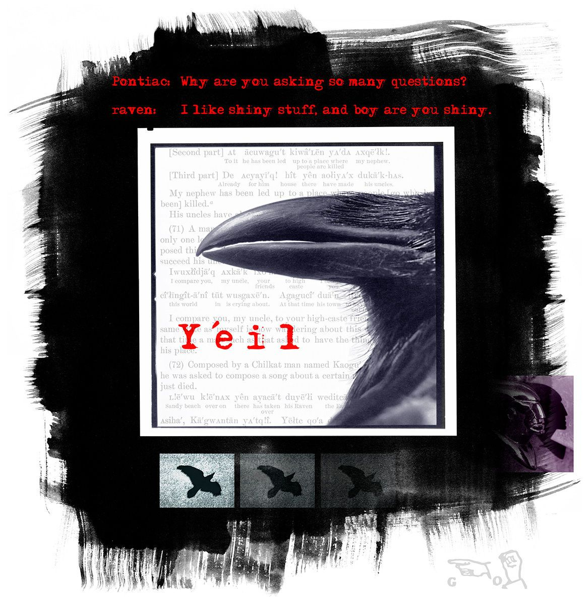 Y'EIL, RAVEN ASKS PONTIAC SERIES (2 OF 4), digital print 1998