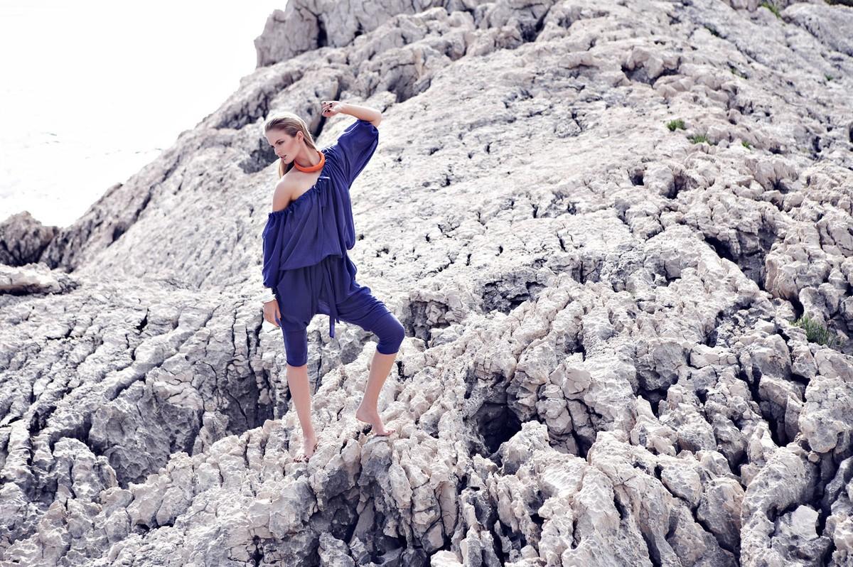 Denisa Dvoncova for Elle magazine.