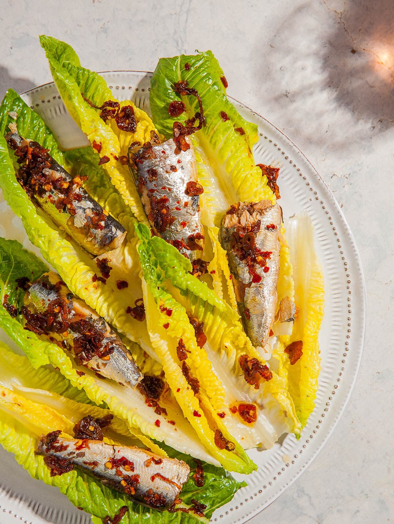 Sardine Caesar Salad