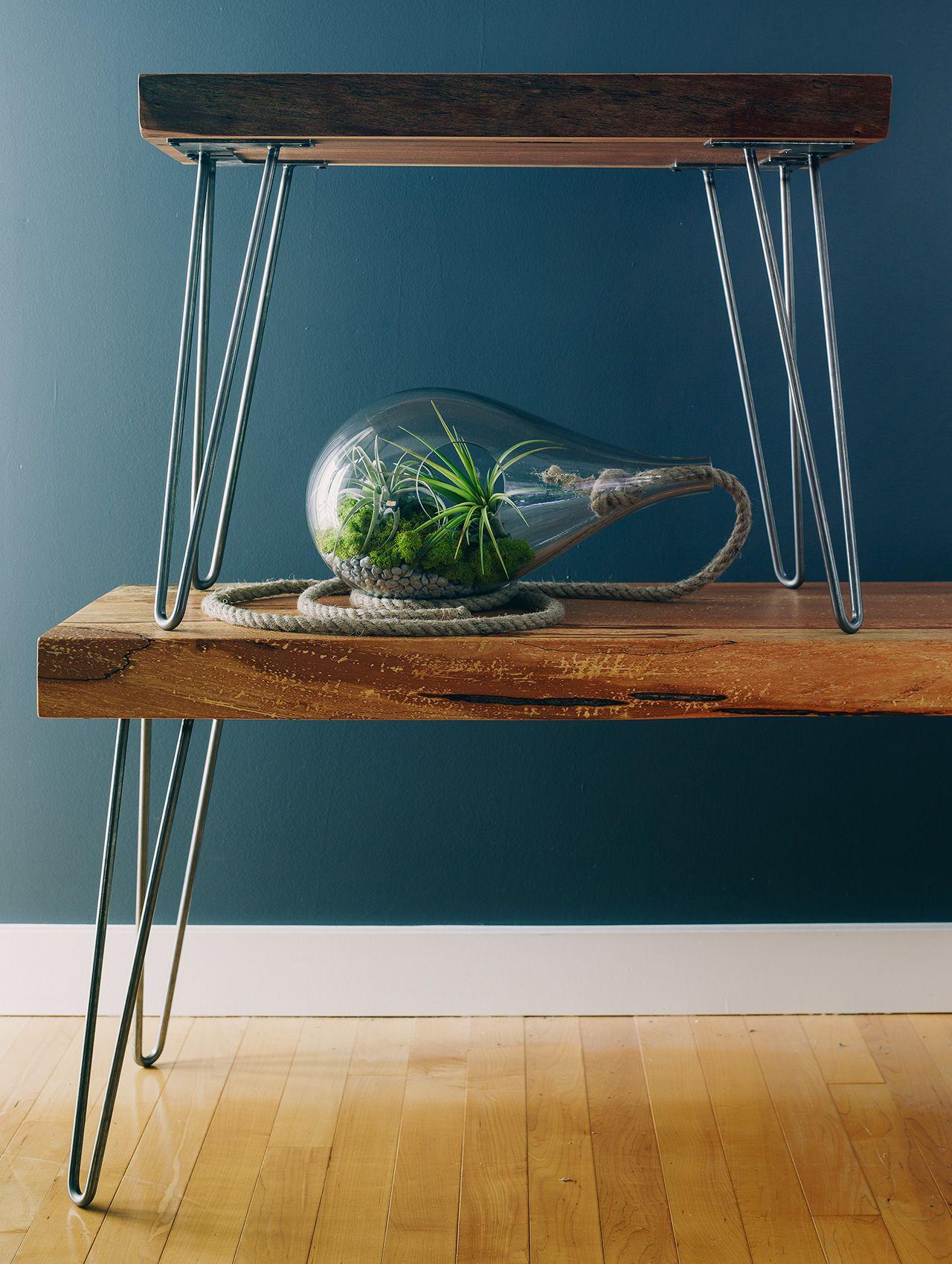 Hairpin Tables and Terrarium