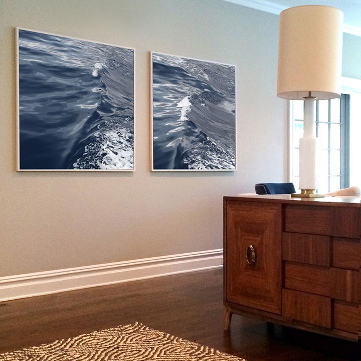 OCEAN SERIES No.2 and No.3 (dark gray blue)