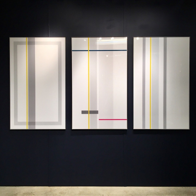 VERTICAL LINES TRIPTYCH