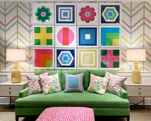 Color Block Art Installation in THIBAUT Showroom in D&D Building in New York City