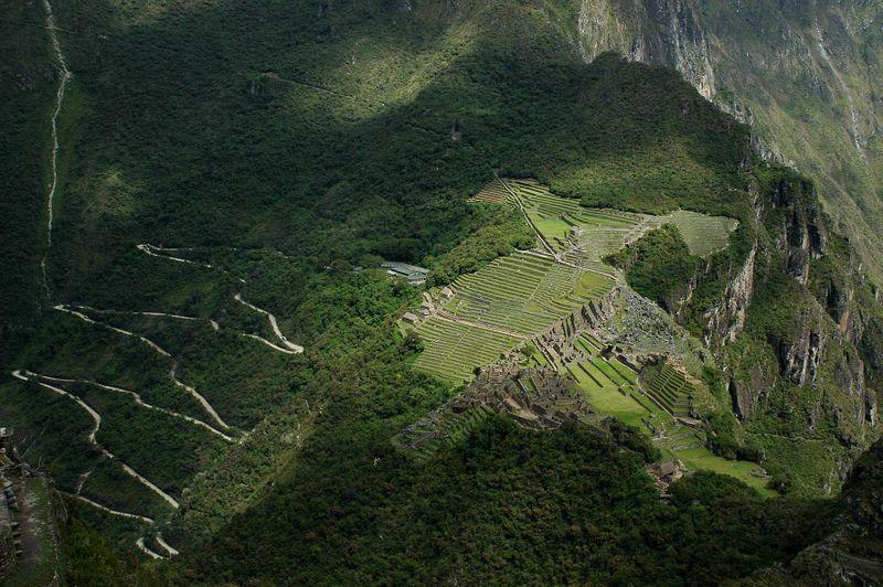 Aerial View of Machu Pichu (long hike up)